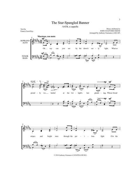 The Star Spangled Banner Satb A Capella  music sheet