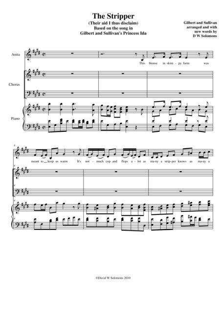 The Stripper A Parody Of A Gilbert And Sullivan Song  music sheet