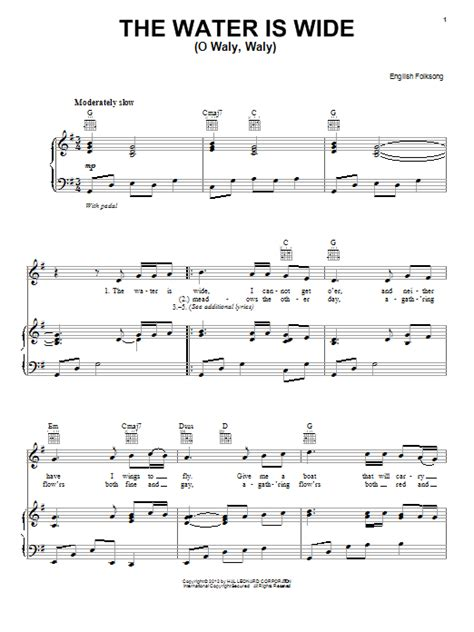 The Water Is Wide Trio For Oboe Viola And Piano  music sheet