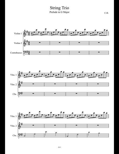 The Way I Am String Trio  music sheet