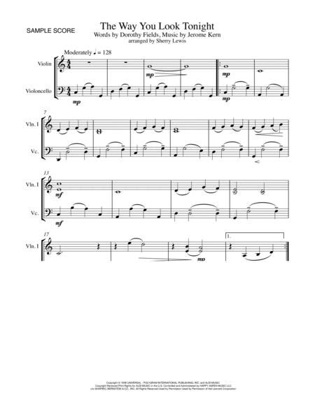 The Way You Look Tonight String Duo For String Duo  music sheet