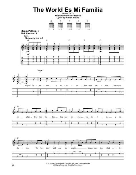 The World Es Mi Familia From Coco  music sheet