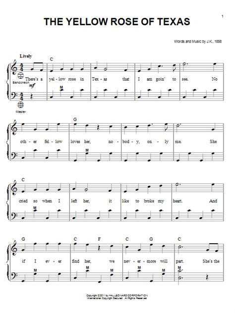 The Yellow Rose Of Texas Duet For Soprano And Alto Solo  music sheet