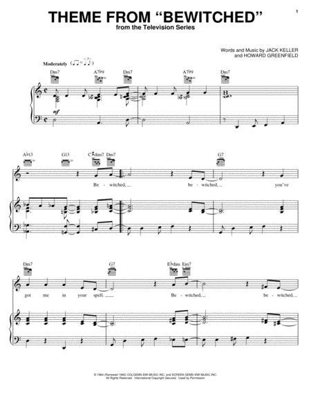 Theme From Bewitched  music sheet