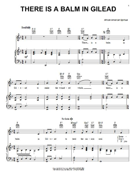 There Is A Balm In Gilead Clarinet Piano  music sheet