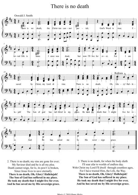 there is no death a new tune to a wonderful oswald smith poem music sheet