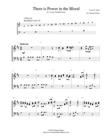 There Is Power In The Blood For 2 Octave Handbell Choir  music sheet