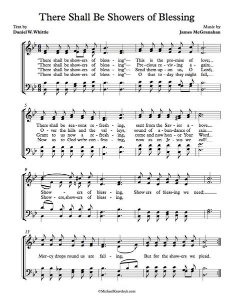 There Shall Be Showers Of Blessing  music sheet