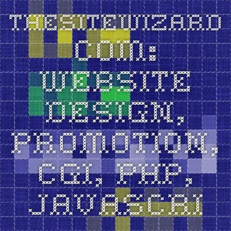 thesitewizard Website design promotion CGI PHP