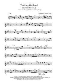 Thinking Out Loud Soprano Sax  music sheet