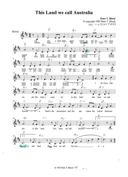 This Land We Call Australia  music sheet