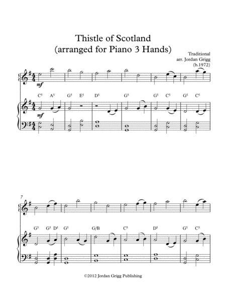 Thistle Of Scotland Arranged For Piano 3 Hands music sheet
