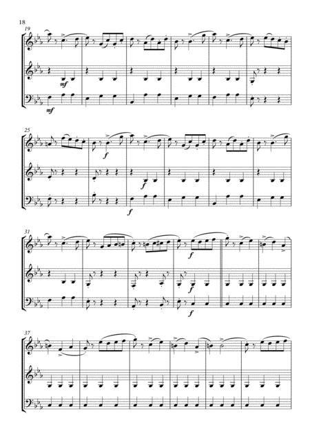Three Dances Arranged For Woodwind Trio  music sheet