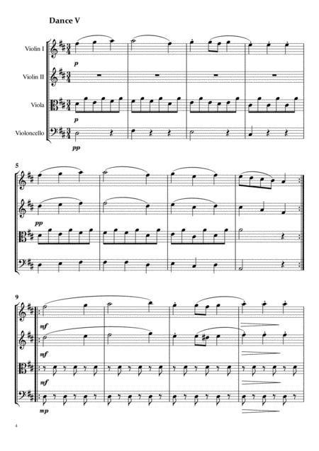 Three Dances From Seven German Dances By J Haydn For String Quartet  music sheet