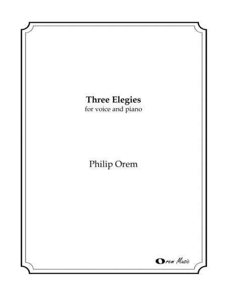 three elegies voice and piano music sheet