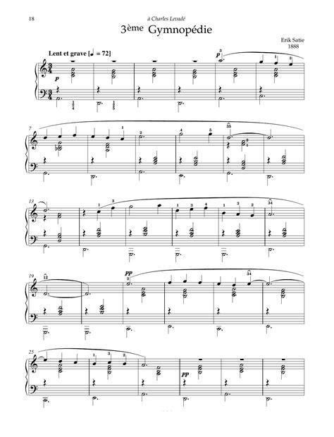 Three Gymnopedies By Erik Satie Piano Solo  music sheet