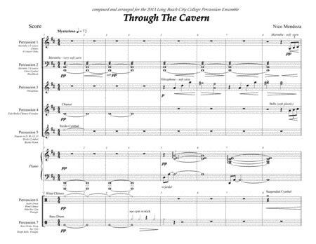 Through The Cavern Percussion Ensemble Piece  music sheet