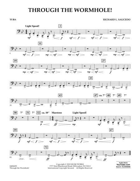 Through The Worm Hole Tuba  music sheet