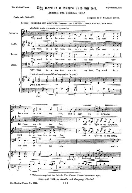 Thy Word Is A Lantern  music sheet