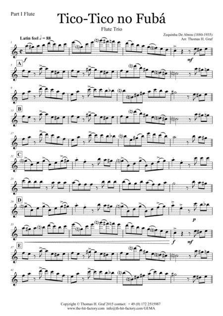 Tico Tico No Fub Choro Brass Trio  music sheet