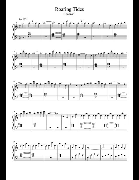 Tides Of Changes  music sheet