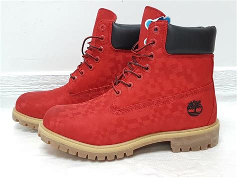 timberland red mens boots eBay