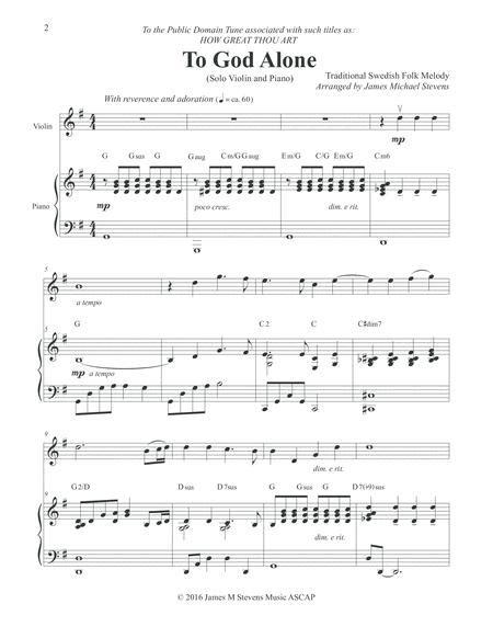To God Alone Classic Violin Hymn Arrangement  music sheet