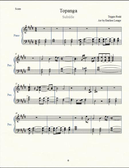 Topanga Trippie Redd  music sheet