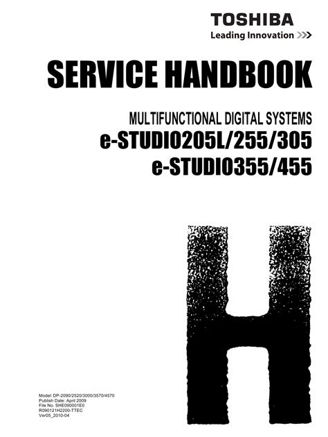 free download ebooks Toshiba E Studio 305 Service Manual.pdf