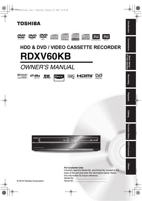 free download ebooks Toshiba Rdxv60 Manual.pdf