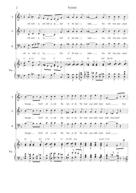 Toyland Vocal Trio Sab  music sheet