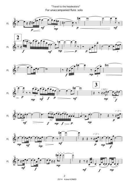 Travel To The Headwaters For Saxophone Solo Op 143d  music sheet