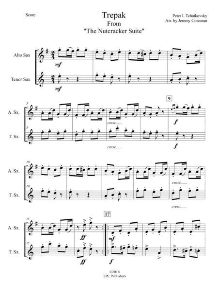 Trepak From The Nutcracker Suite For Alto And Tenor Saxophone  music sheet