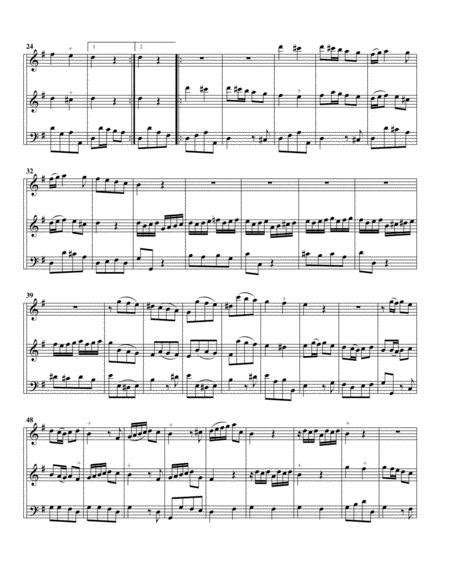 Trio Sonata Qv 2 10 For 2 Violins Or Flutes And Continuo In D Major  music sheet