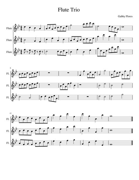 Trio Witchlen  music sheet