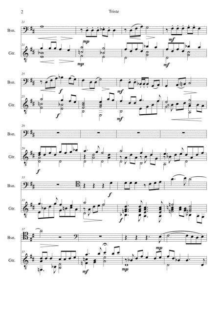Triste For Bassoon And Guitar  music sheet