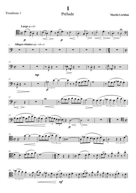 Trombone Quartet N 1 Song Of An Ancient Forest 2013 Full Score  music sheet