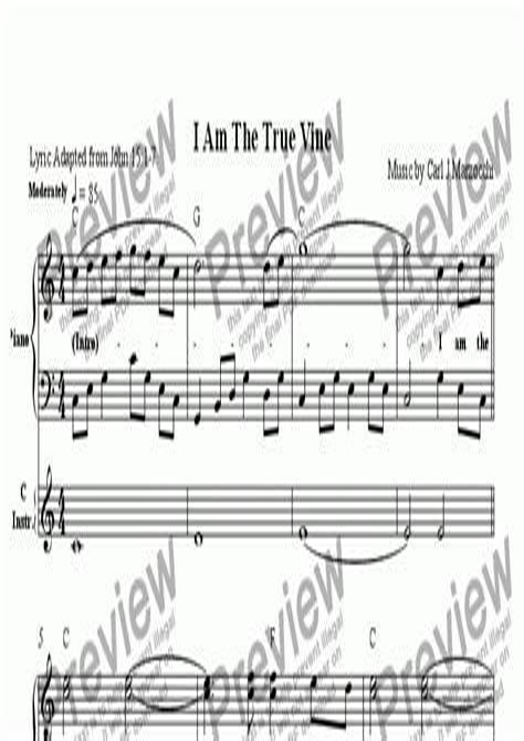 True Vine  music sheet