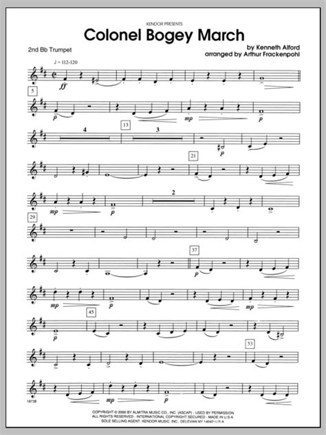 Trumpet Tune And March Brass Quintet  music sheet