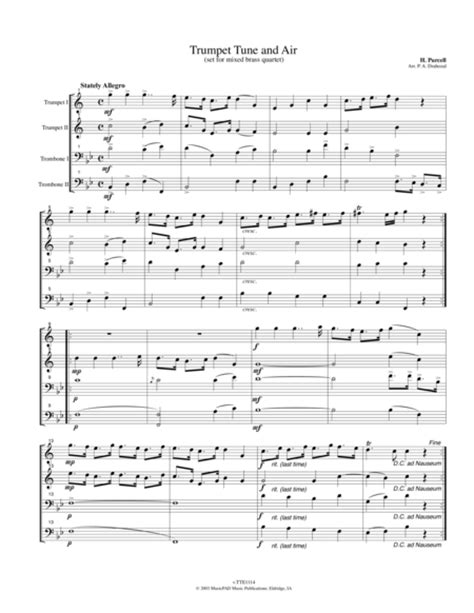 Trumpet Tune And Trio  music sheet