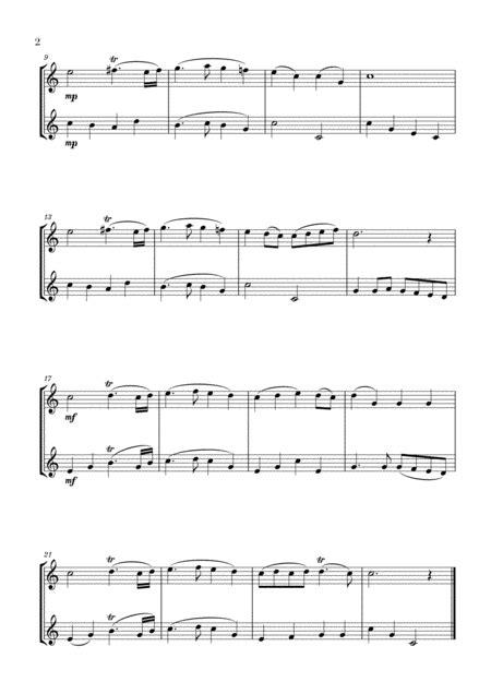 Trumpet Voluntary The Prince Of Denmarks March For 2 Flugelhorns  music sheet