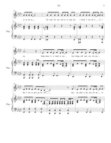 Try For Unison Voices Reproducible  music sheet