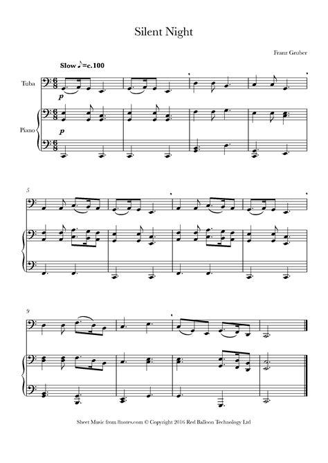 Tuba Solo Silent Night  music sheet