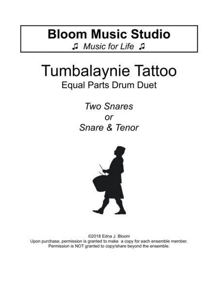 Tumbalaynie Tattoo Elementary Drum Duet  music sheet