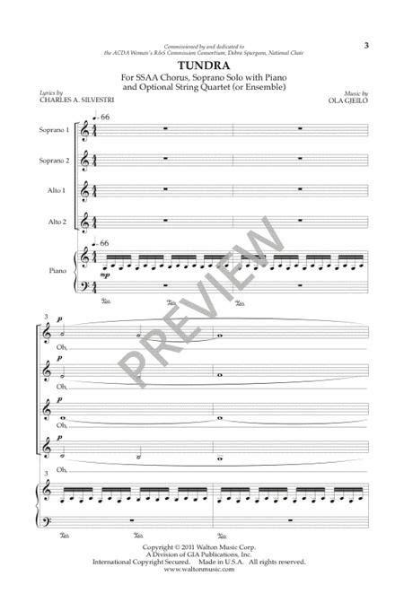 Tundra  music sheet