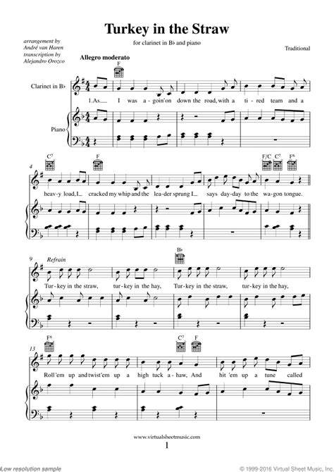 Turkey In The Straw Flute Trio With Piano Accompaniment music sheet