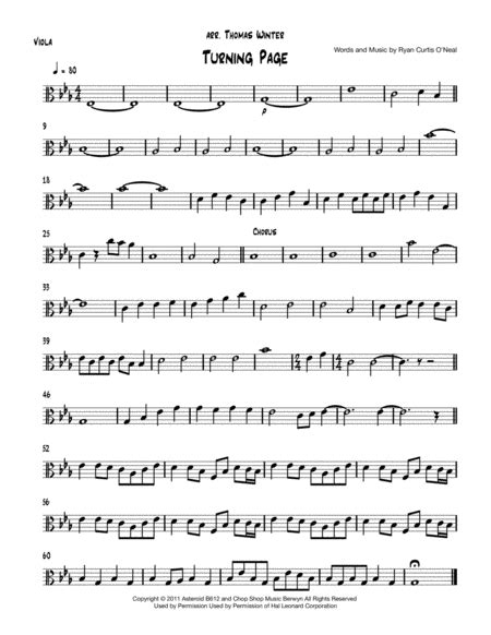Turning Tables For String Quartet 2 Violins Viola And Cello  music sheet
