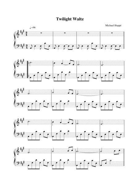 Twilight Waltz Aka Midnight Swan  music sheet