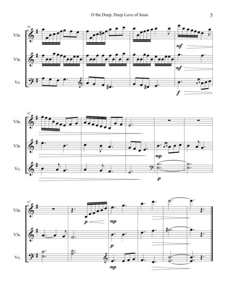 Two Sacred Trios Oh The Deep Deep Love Of Jesus It Is Well With My Soul  music sheet