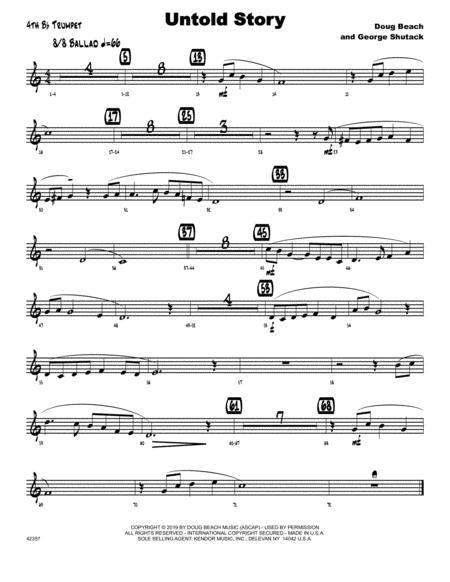 Untold Story 4th Bb Trumpet  music sheet